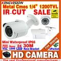 Mini 1/3cmos 1200TVL Surveillance Analog Video Indoor Outdoor Waterproof IP66 hd CCTV Security Camera IRCut Night Vision Bracket