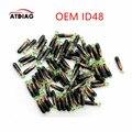 10 шт./лот ID48 ID 48 стеклянный транспондер чип высокое качество, ключ транспондер чип id48 криптовалюп