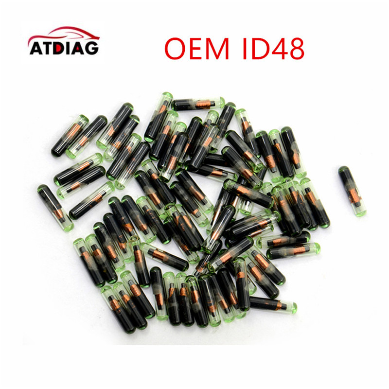 Crypto Chip Transponder-Chip Megamos ID48 Glass Professional 10pcs/Lot Id:48-Id High-Quality title=