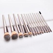 14Pcs Professional Makeup Brushes Set Powder Foundation Eyeshadow Brush Lash Eyebrow Brush Cosmeitc Blending Beauty Make Up Tool