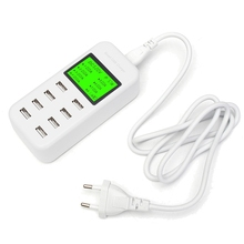 Universal 8 Port USB Smart Charger LCD Screen Display Power Fast Charging For iPhone For Samsung