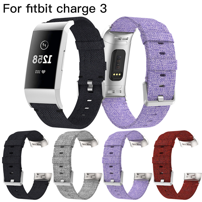 Quick Release Nylon Strap for Fitbit Charge 3 Smart Bracelet Replacement Woven Fabric Watch Band for Fitbit Charge3 Accessories replacement accessory metal watch bands bracelet strap for fitbit alta fitbit alta hr fitbit alta classic accessory band