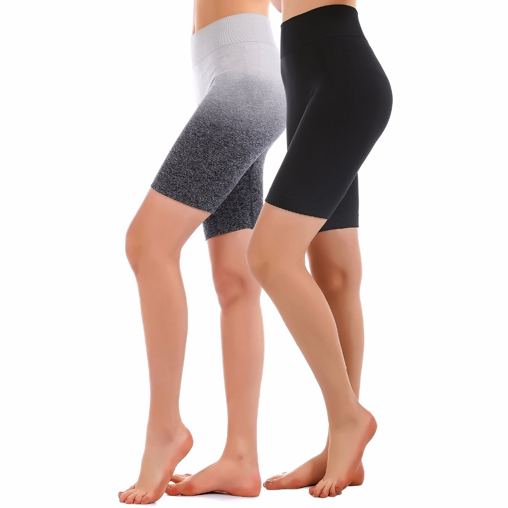 Freeskin Sports Shorts Women High Waist Seamless Yoga Shorts Fitness Running Active Shorts Sportwear Workout Clothes for Women stylish mid waist candy color slimming shorts for women page 4
