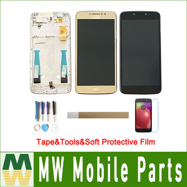 For Motorola <font><b>Moto</b></font> <font><b>E4</b></font> <font><b>Plus</b></font> XT1773 <font><b>XT1770</b></font> XT1772 XT1771 LCD <font><b>Display</b></font> Touch Screen Sensor Assembly With Frame Black Gold With kit image
