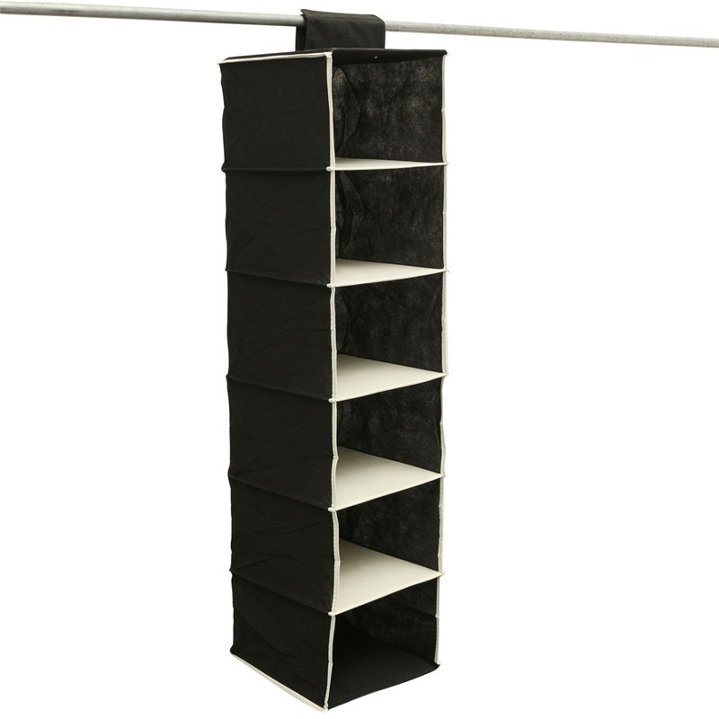 6 Shelf Wardrobe Clothes Hanging Bag Shoe Organizer Rack Storage