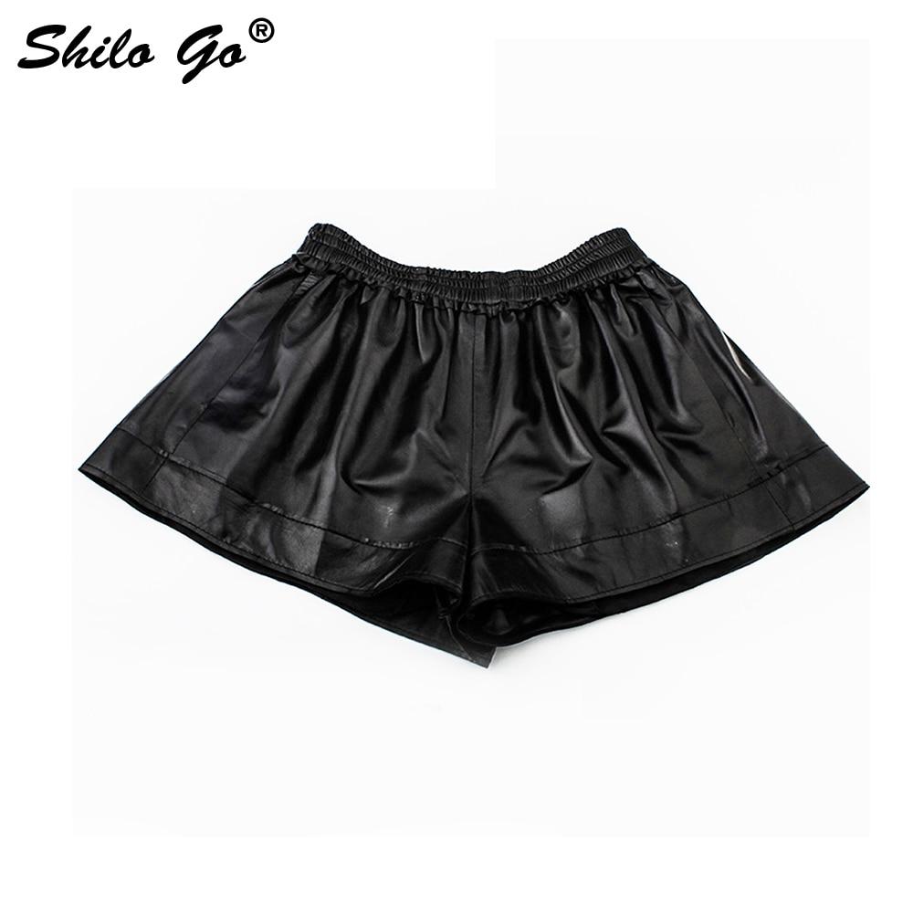 Shilo En Stretch Short Shorts Haute Mode Mouton Sexy Large Taille Aller Cuir Véritable Jambe Femmes Automne Peau De grUgqxw
