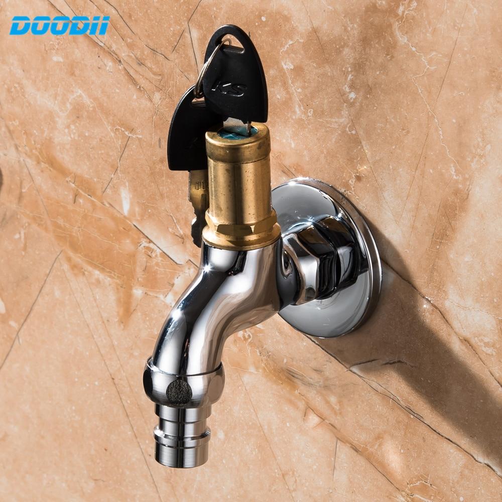 Bassin D Eau Exterieur €16.16  doodii bibcock robinet d'eau extérieur en laiton de haute qualité  1/2 pouces avec serrure robinet de bassin robinet lave linge robinet d'eau