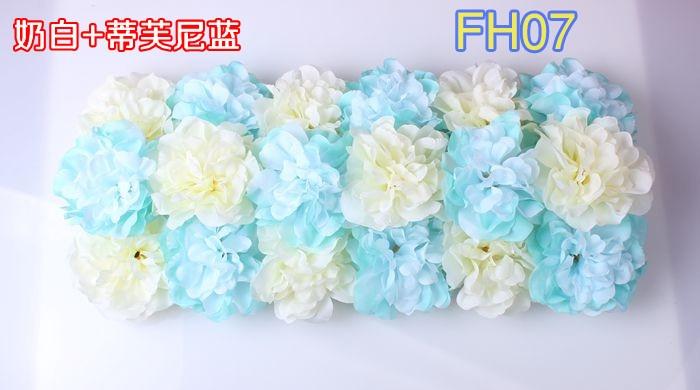 Свадебные композиция свадебные искусственные шелковые свадебные розы арки цветок Свадебные украшения цветок ряд цветок кадр 10 шт./лот - Цвет: FH07
