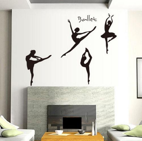 FD2474 Home Decor Craft Sticker Children Bedroom Wall DIY Sticker ~Ballet Girls~