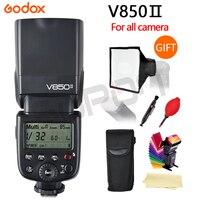 Godox V850II GN60 2.4 Gam không dây X Hệ Thống Speedlite Li-Ion Pin Đèn Flash với Bộ Sạc Xe Hơi cho Canon Nikon Sony máy ảnh