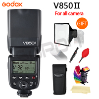 Godox V850 Flash Changeable Li Ion Battery Camera Speedlite Flash Hot Shoe With Car Charger For
