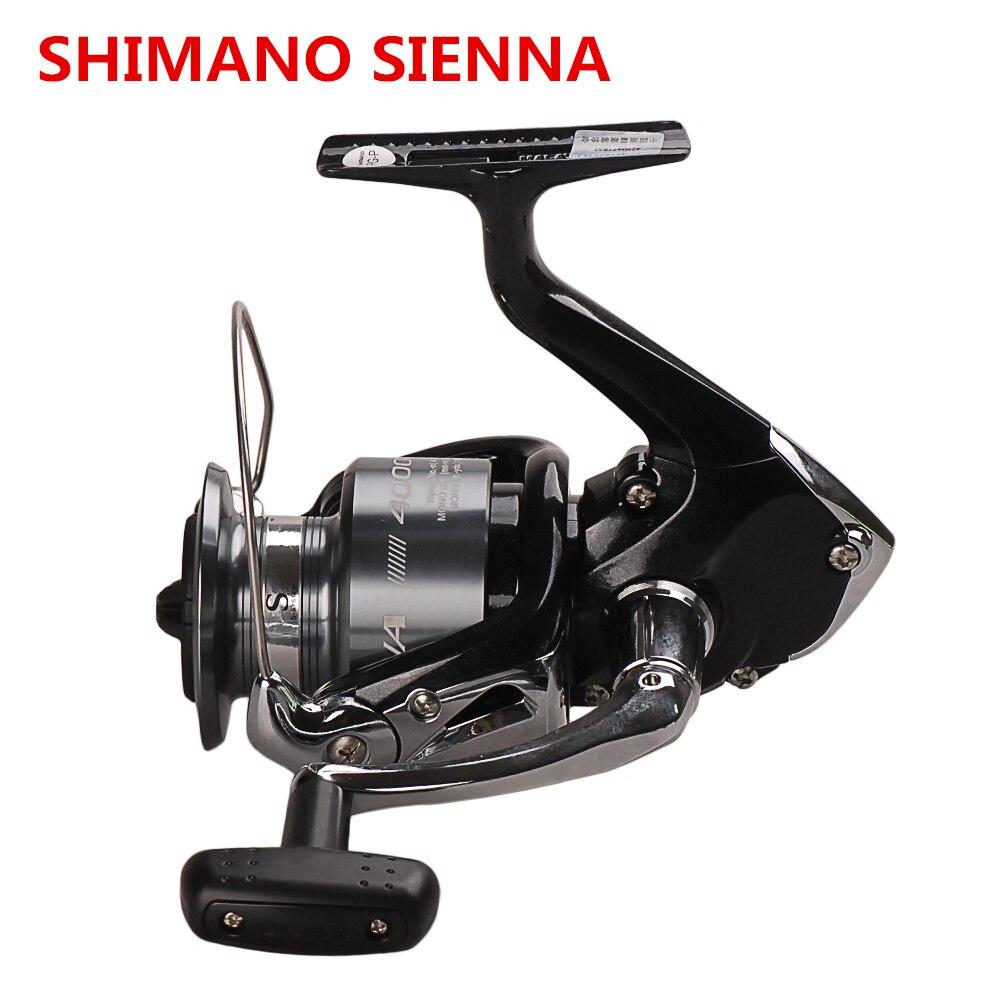 Original Shimano SIENNA FE 1000 2500 4000 Spinning Angelrolle 2BB Frontbremse XGT7 Körper Saltewater Karpfen Angelrolle Locken rad