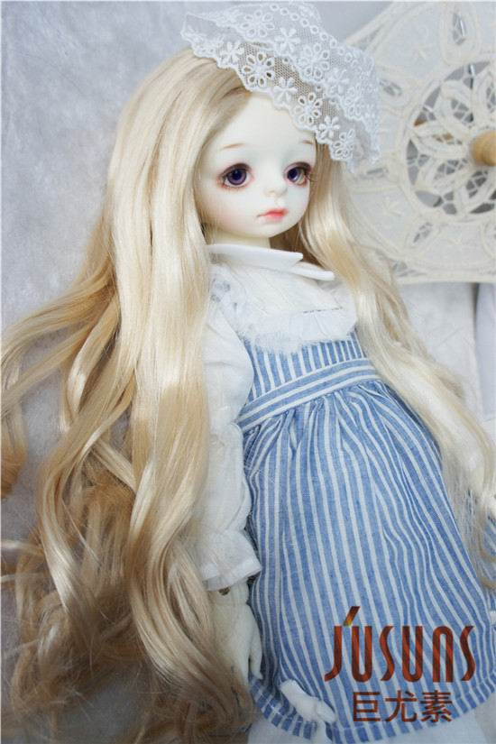 JD028B Blyth doll wig 24-25cm Alice Fancy long curly BJD wig syntheitc mohair wigs 9-10inch inch Resin doll accessories 5 120g adoult tooque wigs scissorhands black wig curly halloween men wigs costume accessory qy 923635