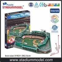 MajorLeagueBaseball MLB Fenway Park Stadium BostonRedSox 3D Puzzle Model Paper Toys Fans Collection Souvenir