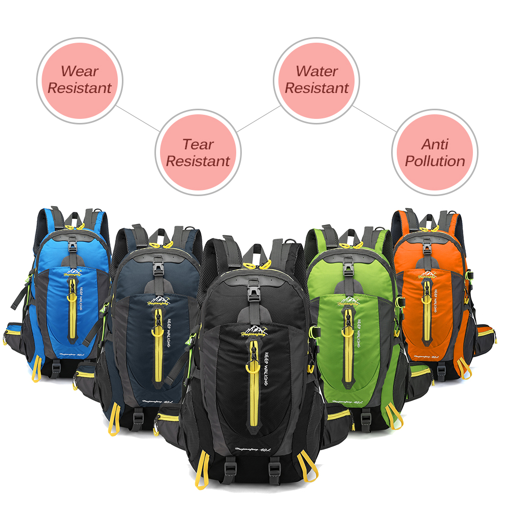 HTB1fXtRS4jaK1RjSZKzq6xVwXXaJ Waterproof Climbing Backpack Rucksack 40L Outdoor Sports Bag Travel Backpack Camping Hiking Backpack Women Trekking Bag For Men