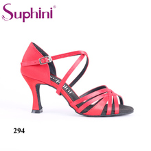 Free Shipping 2017 Suphini Factory Sale Price Salsa Shoes Satin Dance Shoe Lady Latin Dance Shoes