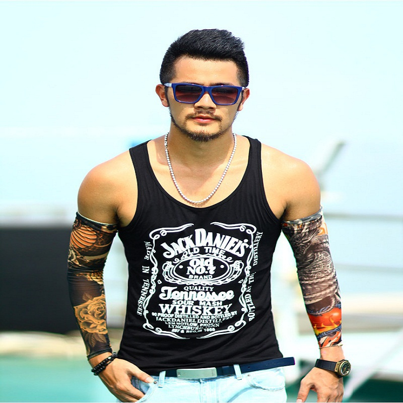 Tank     Top   men cotton mens sleeveless letter printed casual sporting   tank     top   2018 new hip hop   tops   Size M-XXL