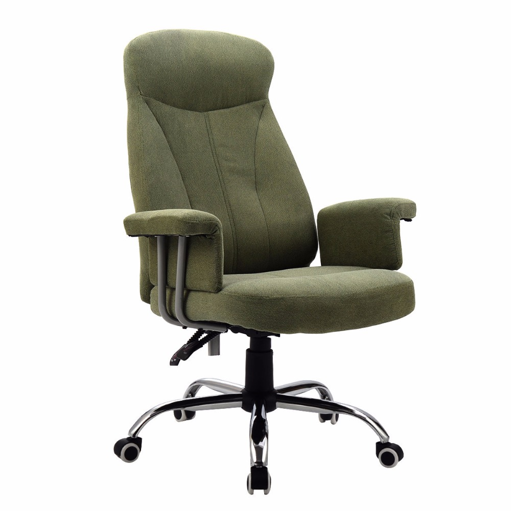 Goplus High Back Reclining Office Chair Padded Executive Gaming Chair Computer Desk Task Recliner Relax Manager Chair HW52959 spin the chair desk chair high chair american vintage old iron bar chair001