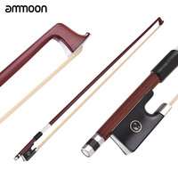 New Arrival ammoon Concert Level 4/4 Violin Fiddle Bow Well Balanced IPE Wood Stick Ebony Frog Horsehair