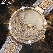 Missfox Феникс часы женские Стразы импортный японский кварцевый