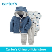 Carter S 3 Piece Baby Children Kids Clothing Boy Spring Elephant Little Cardigan Set 127G894