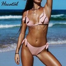 Hecatal 2018 Summer Sexy Swimsuit Women Push Up Brazilian Bikini Bandage Biquini Vintage Bikinis Female maillot de bain femme