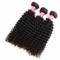 Msbeauty Hair Peruvian Kinky Curly Hair Bundles Natural Color Human Remy Hair 8 30 Can Mix Length Free S
