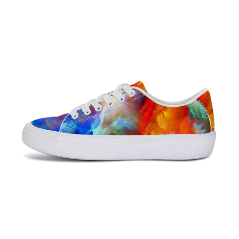 2018 Galaxy Print Women Summer Flat Lace Up Shoes Casual Female Platform Footwear Fashion Gilrs Starry Sky School Sneaker Spring