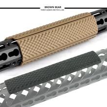 Taktikai Pisztoly tartozékok Vadászat 4db Rifle Quad Rail gumi Keymod Soft Rail fedél 6,2 hüvelykes vasúti fedél