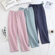 Fdfklak New Cotton Pants Autumn Women's Pajama Pants Lounge Wear Home Pants Winter Trousers Women