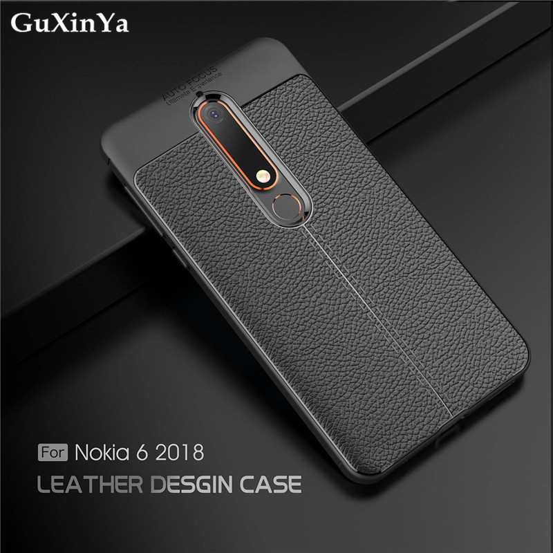 GuXinYa For Cover Nokia 6.1 Phone Cases Luxury Leather ShockProof TPU Protective Case For Nokia 6.1 Funda For Nokia 6 2018 / 6.1