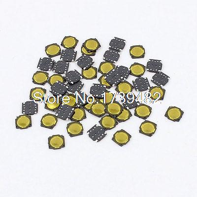 50 Pcs Square Momentary SMD Push Button Tact Tactile Switch 3.7x3.7mm 10value 180pcs ocr tm tactile push button switch micro momentary tact assortment switch universal switch box