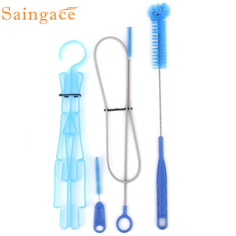 4pcs Set Water Hydration Bladder Tube Cleaner Brushes Tube Cleaning Kit Portable and durable 2MY26
