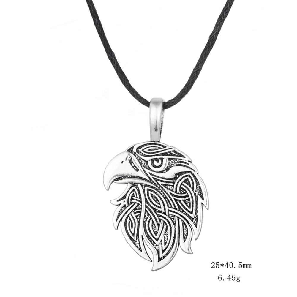 Dawapara Viking necklace Fox Triquetra Fenrir Animal Teen Wolf Necklace men Fashion Jewelry pendant Supernatural Amulet Knot 27