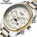 Relogio Masculino 2016 GUANQIN Watches Men Luxury Brand Quartz Watch Clock Full Steel Watch Reloj Men Casual Business Wristwatch