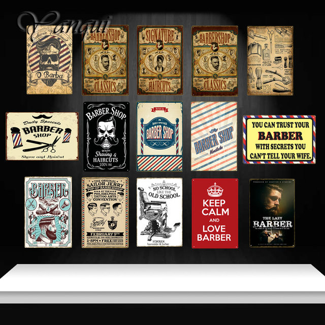 Daily Specials Barber Decor Vintage Metal Signs Shave And Haircut Tin Poster Retro Painting