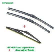 """Senwanse передние и задние стеклоочистители s для peugeot 508 SW MK1 2010- Дворники для лобового стекла лезвия 2""""+ 26""""+ 12"""""""