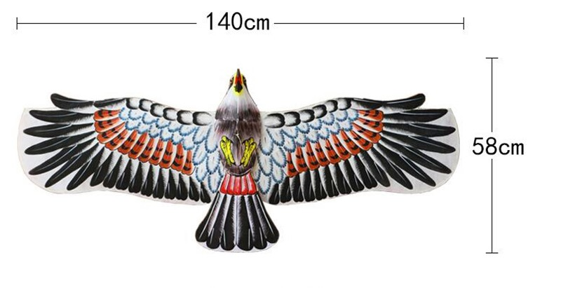 Высокое качество 140 см Китайская традиционная ручная краска орел кайт может двойной лоток с ручкой