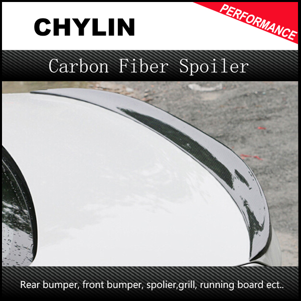 P Style For BMW F30 F80 M3 Spoiler Carbon Fiber Material M Performance Style 2012 - 2016 320i 328i 335i 326D F30 Carbon Fiber