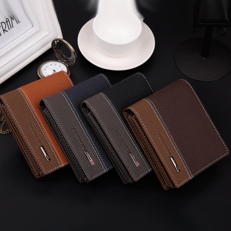 10 pcs Designer Famous Brand Walet Business PU leather Men Wallet ...