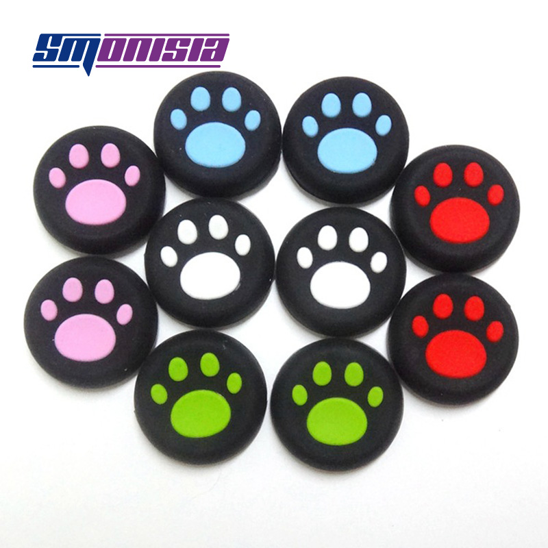 100pcs Silicone Thumbstick Grips Protection Cover Caps Cat Paw for PS3 PS4 <font><b>Xbox</b></font> One <font><b>Xbox</b></font> 360
