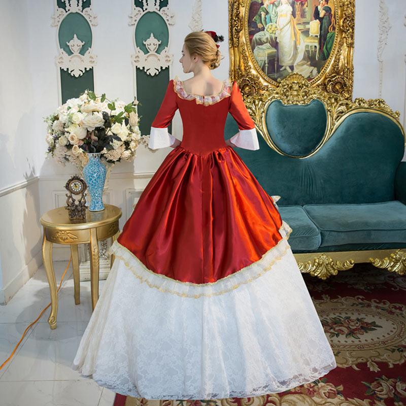 As Partie Personnalisé Danse De Antoinette Siècle Drop Robe Marie Ruches Costume 18th Reine Shipping 2018 Blanc Victorienne Picture Dentelle Scène UwqX6Ur