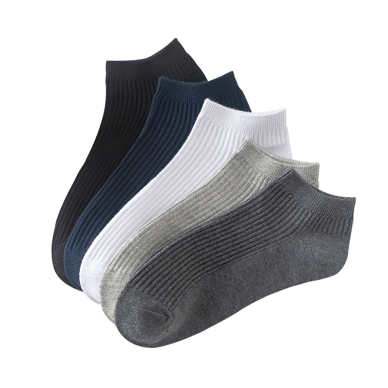 5 Pairs/lot 2019 Men's Cotton Socks Plus Size Black Business Men Socks Breathable Spring Summer For Male US Size(6.5-11) New