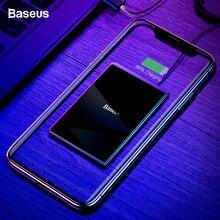 Baseus 15W Qi kablosuz şarj cihazı iPhone 11 Pro Xs Max X Ultra ince hızlı kablosuz kablosuz şarj pedi samsung S10 S9