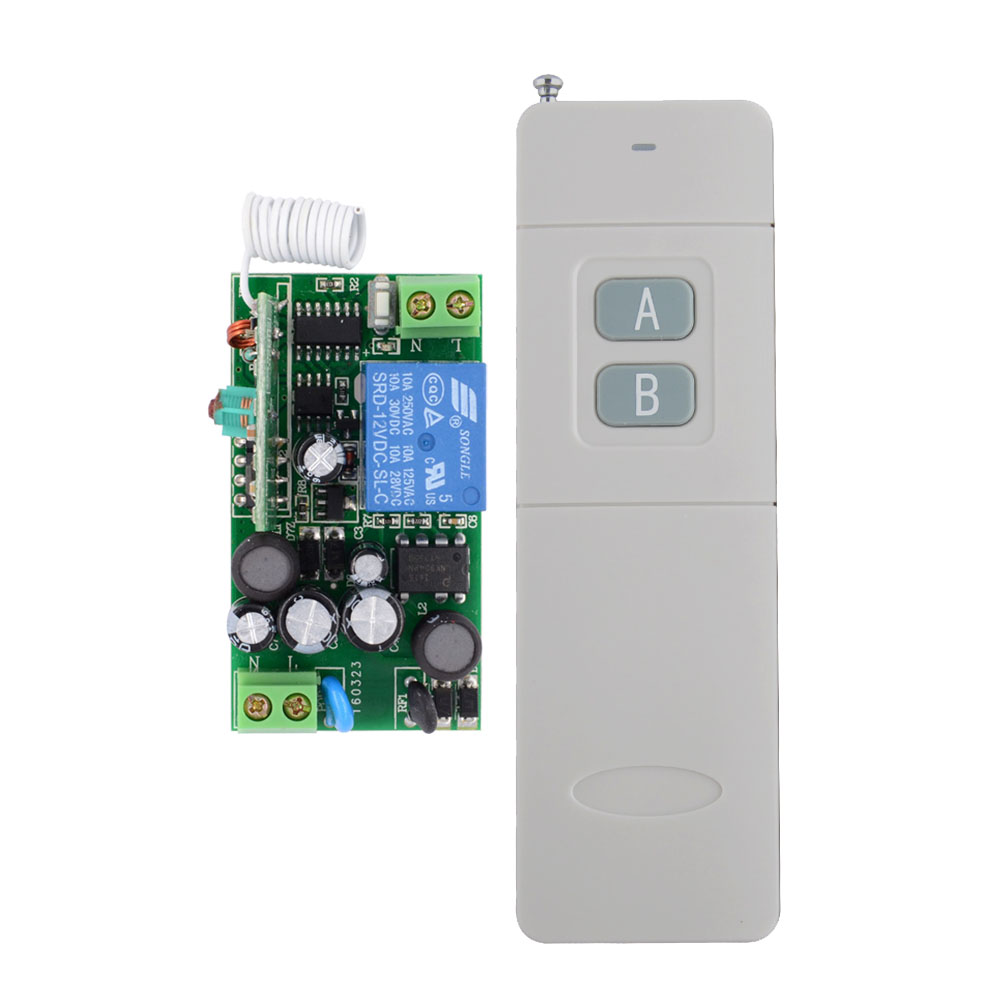 3000m Long Range Remote Control Switch AC 220V 1 CH 10A Relay Receiver Transmitter Learning Light