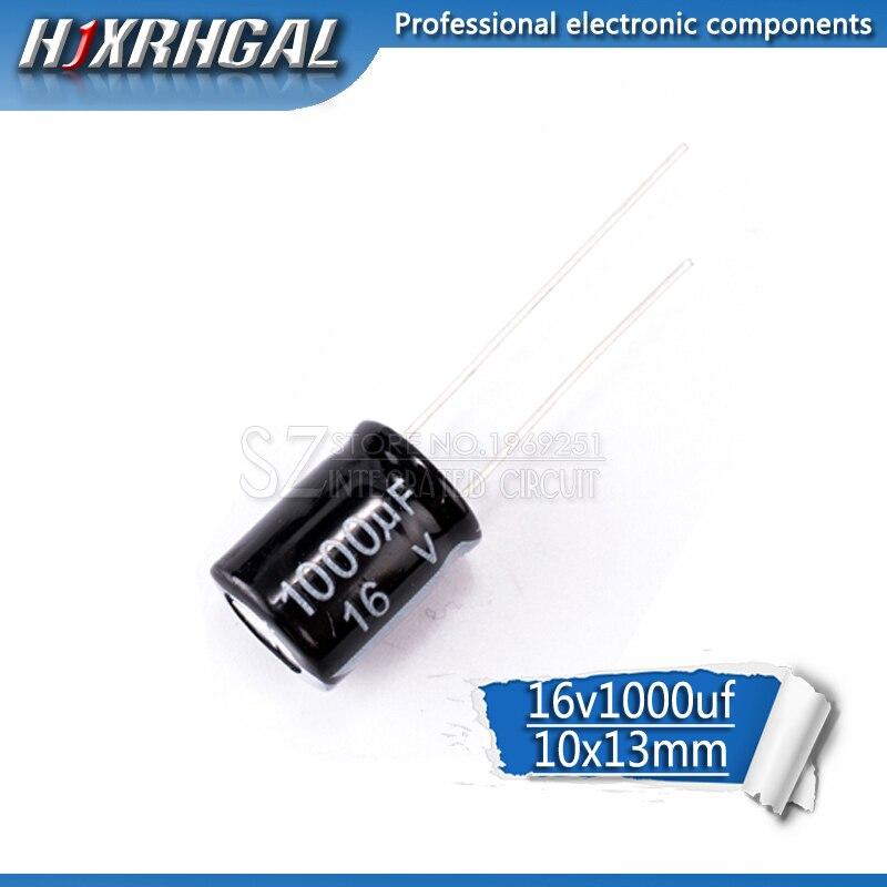 10PCS Higt Quality 16V1000UF 10*13mm 1000UF 16V 10*13 Electrolytic Capacitor Hjxrhgal