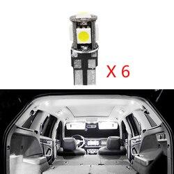 6 sztuk wolne od błędów dla Ford Escape Kuga 2013 akcesoria czytanie oświetlenie wewnętrzne białe wnętrze LED pakiet oświetlenia tablicy