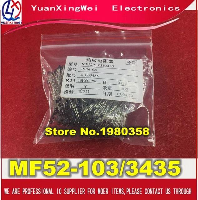 Free Shipping 20PCS Accuracy Of 1% Thermistor NTC - MF52-103/3435 10 K To 3435 + 1 NTC- MF52-103F3435