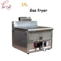 1pc 17l alta capacidade de gás comercial aço inoxidável frigideira controle temperatura fritadeira máquina frango frito gás