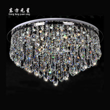 modern crystal chandelier led lamp round lighting lustres  luxury light decoration for living room bedroom